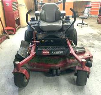 Rear View of 2011 Toro Commercial Z Master